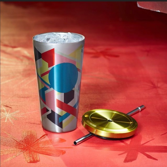 STARBUCKS GEOMETRIC STAINLESS COLD CUP 16oz